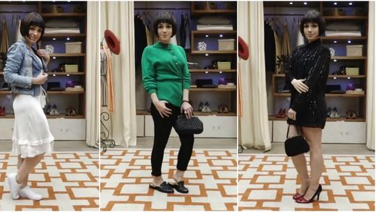 Sabrina Petraglia experimenta looks modernos com peças de brechó