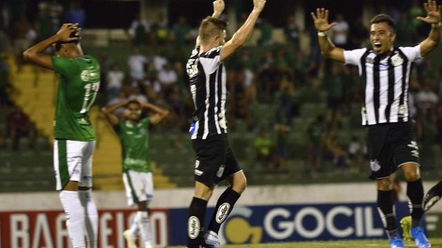 Guarani x Santos gol contra pablo