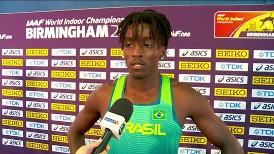 Gabriel Constantino analisa prova dos 60m com barreiras e celebra vaga na semifinal
