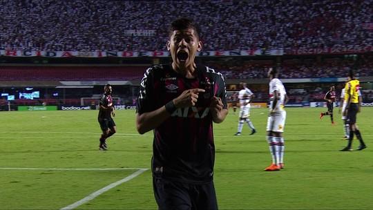 Rossetto aproveita jogada de Pablo e empata para o Atlético-PR