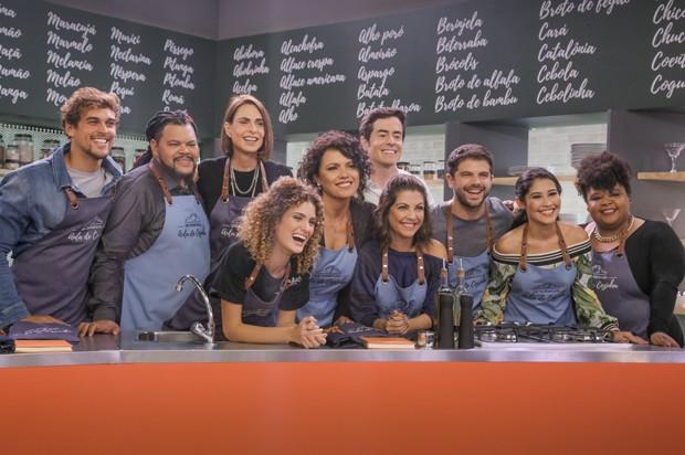 Participantes do Que Marravilha - Aula de Cozinha (Foto: Tricia Vieira/Divulgação)