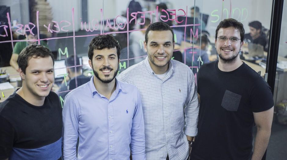 Tomás Scopel, Rodrigo Miranda, Renato Antunes Jr e Mario Miranda sócios da Zaitt e da Shipp (da direita para a esquerda) (Foto: Divulgação )