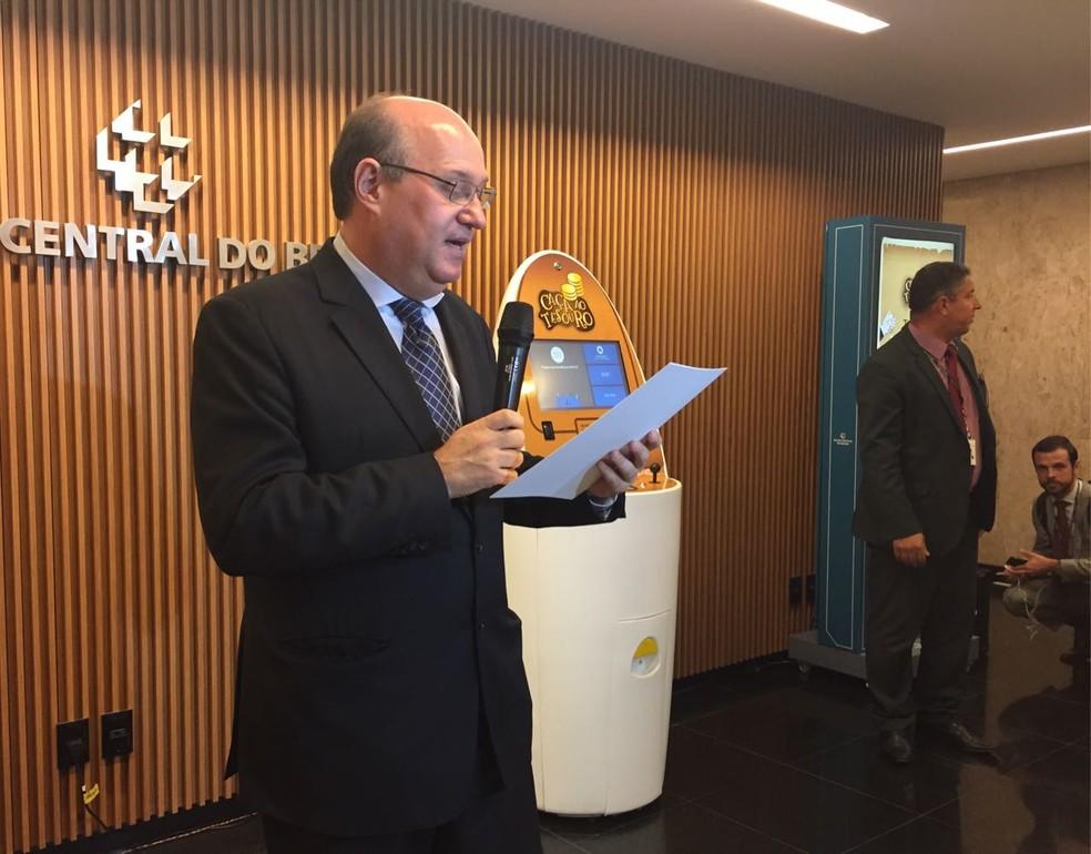 Presidente do Banco Central, Ilan Goldfajn; para ele, bitcoin é uma bolha especulativa (Foto: Laís Lis/G1)