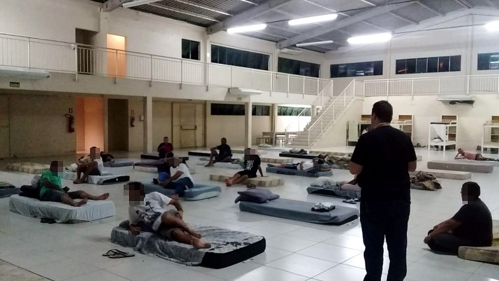 Estádio Vieirão abriga 60 pessoas em situação de rua em Gravataí — Foto: Divulgação/ Grêmio