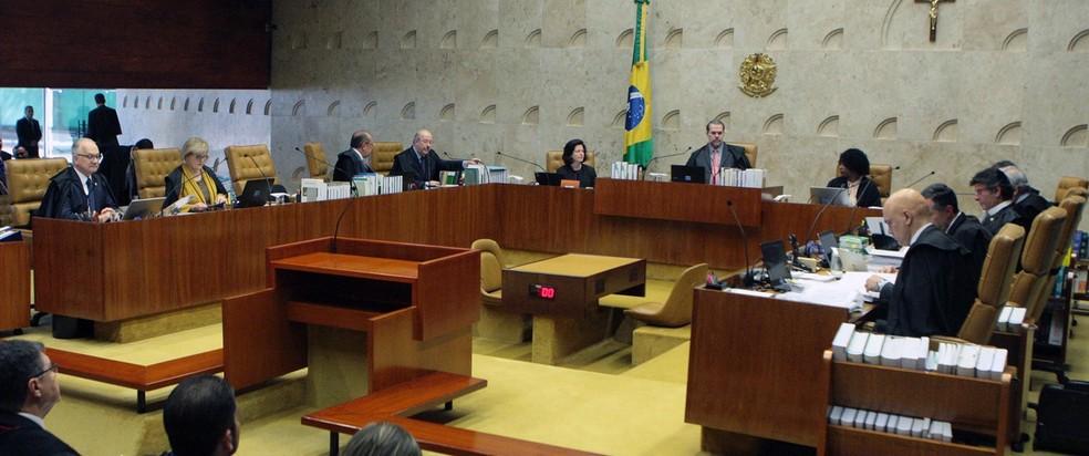 Ministros no plenário do Supremo Tribunal Federal durante sessão em agosto (Foto: Carlos Moura/SCO/STF )