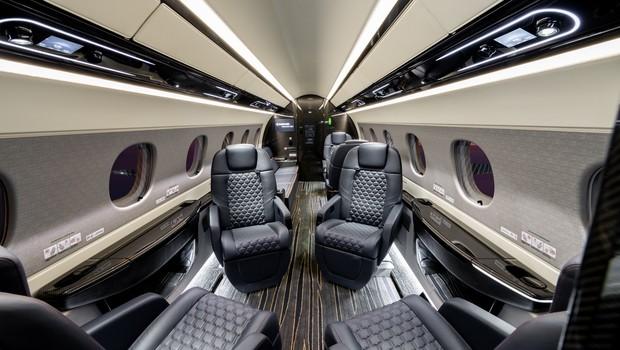 Interior da aeronave Praetor 600  (Foto: Divugação)
