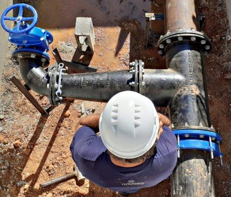Instalação de válvulas interrompe o abastecimento de água na zona sul de Sorocaba