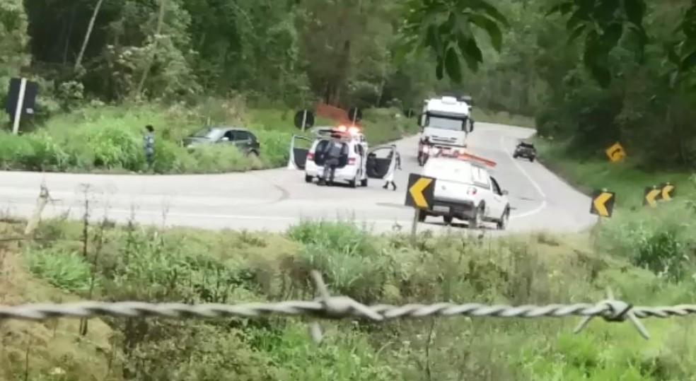 Ação da Polícia Militar em Marechal Floriano (Foto: Divulgação/Whatsapp)