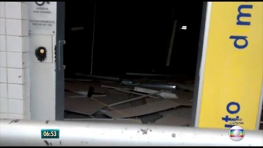 Bandidos explodem cofre de agência bancária em Chã Grande, no Agreste de PE