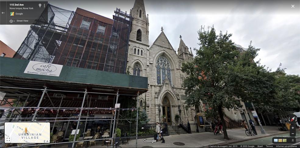 Registro de outubro de 2019, feito pelo Google Maps, da Middle Collegiate Church, em East Village, Nova York, nos EUA. — Foto: Reprodução / Google Maps
