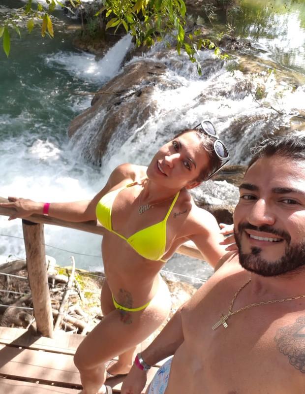 Priscila Pires e João Reis em Bonito (Foto: Arquivo pessoal)