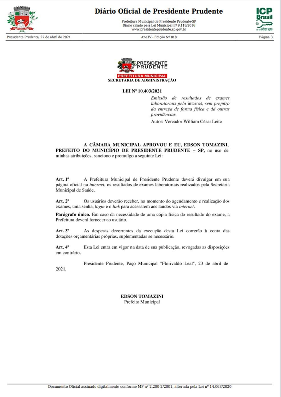 Prefeitura deverá disponibilizar resultados de exames laboratoriais realizados pela Secretaria Municipal de Saúde — Foto: Reprodução