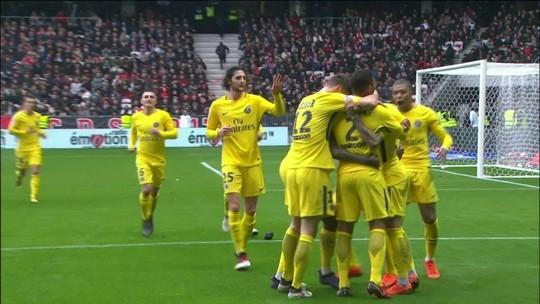 Veja os gols de Nice 1 x 2 PSG pelo Francês. Di María assina pintura