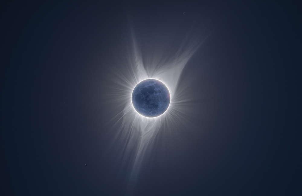 O eclipse que aconteceu nos Estados Unidos em 2017 rendeu belos registros (Foto: Divulgação/Peter Ward)