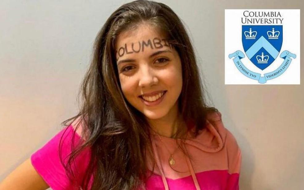 Nicole Vieira comemorou a aprovação, em Goiânia — Foto: Divulgação/Arquivo Pessoal