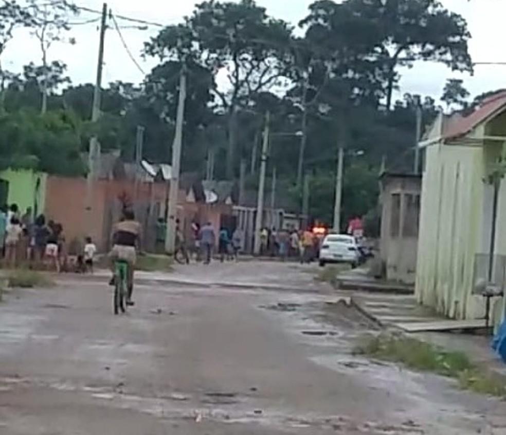 Antônio José Bernardo, de 29 anos, morreu após ser baleado na tarde desta terça-feira (14) — Foto: Reprodução/WhatsApp