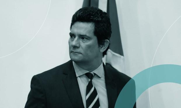 Sergio Moro no dia de seu anúncio de saída do Ministério da Justiça
