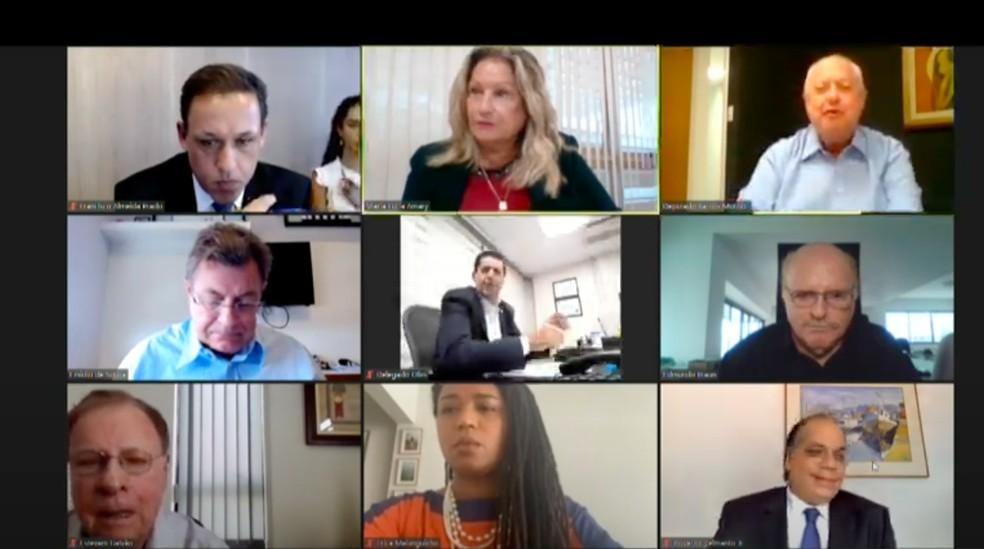 Deputados do Conselho de Ética da Alesp ouviram testemunhas de Fernando Cury o defenderem nesta quarta-feira (24) — Foto: Redes Sociais/Reprodução