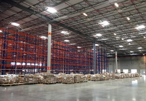 Aarmazém da operadora logística Luft, que será usado pela Amazon.com Inc em Cajamar (Foto: Reuters)