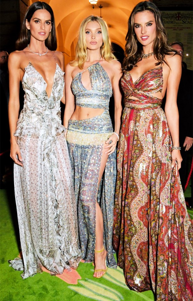 Izabel Goulart, Elsa not long after, and Alessandra Ambrosio (photo: playback / Instagram)