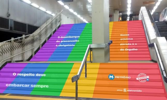 Metrô se veste com as cores do arco-iris  para celebrar Dia do Orgulho LGBTQIA+