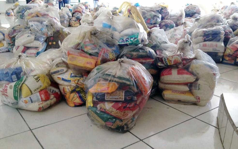 Meta do Natal Sem Fome 2018 é arrecadar 200 toneladas de alimentos na Paraíba — Foto: Heloise Hamada/G1