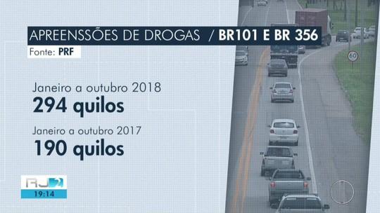 Número de apreensões de drogas cresce nas rodovias federais do Norte Fluminense