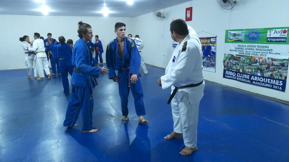 Judoca nos treinos — Foto: Rede Amazônica/Reprodução