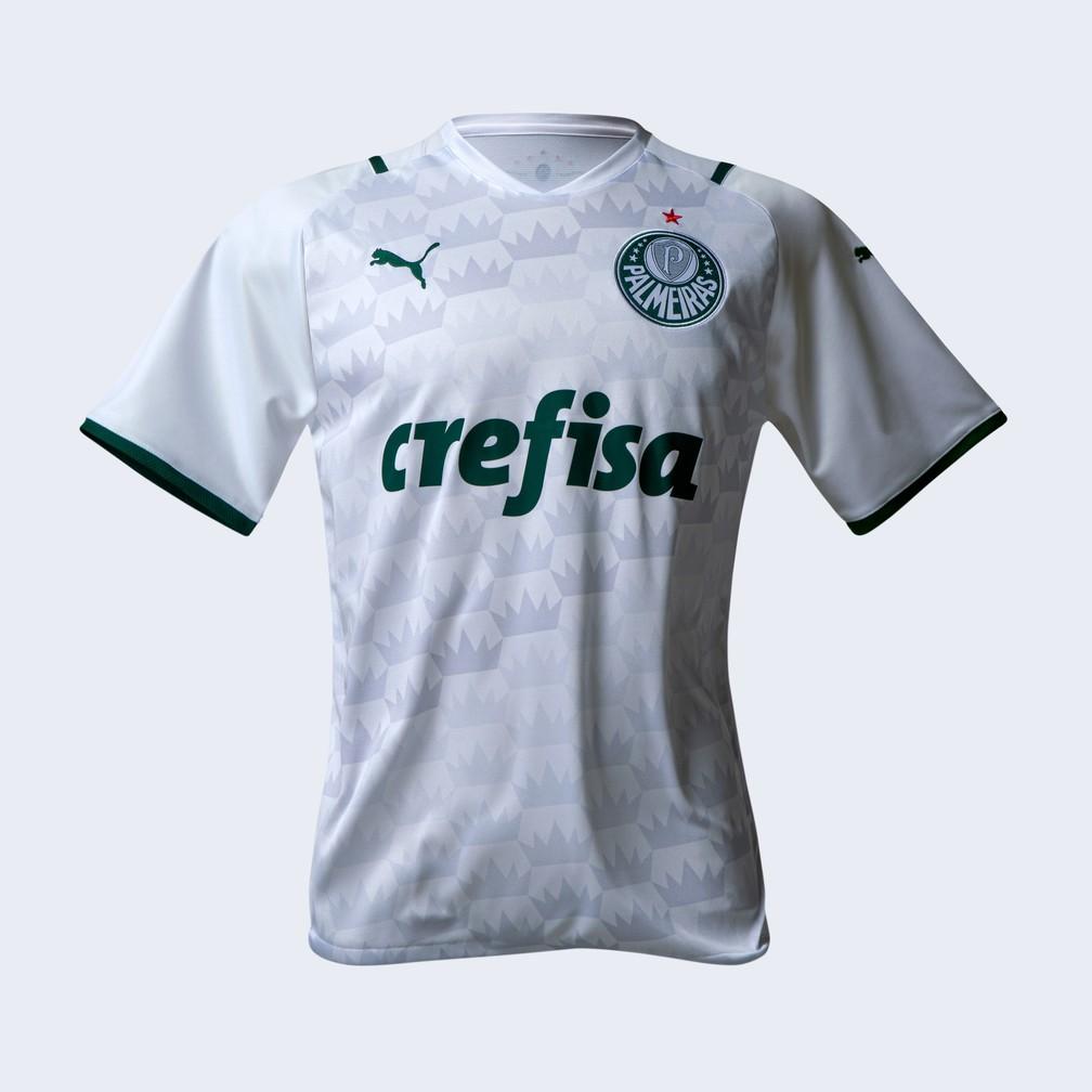 Camisa branca do Palmeiras versão 2021 — Foto: Divulgação