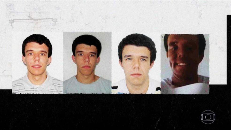 Fotos de Lucas Soares Fontes em documentos oficiais apresentam imagem diferente da foto que ele entregou no concurso do INSS (à dir) — Foto: Reprodução/TV Globo