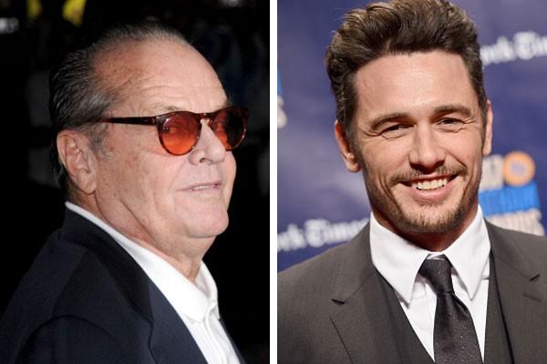 Jack Nicholson e James Franco (Foto: Getty Images)
