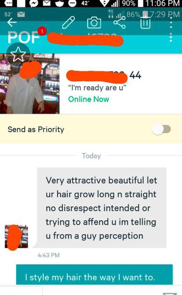 Homem recebe resposta em app de paquera (Foto: Reprodução/Instagram)