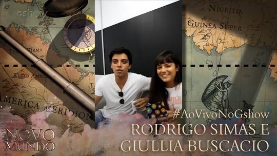 Rodrigo Simas e Giullia Buscacio falam do futuro de Piatã e Jacira em 'Novo Mundo'