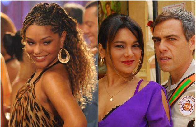 """Suellen (Juliana Alves) vivia de olho nas traições de Norminha (Dira Paes): """"Abre o olho, Abel (Anderson Müller)"""" (Foto: TV Globo)"""