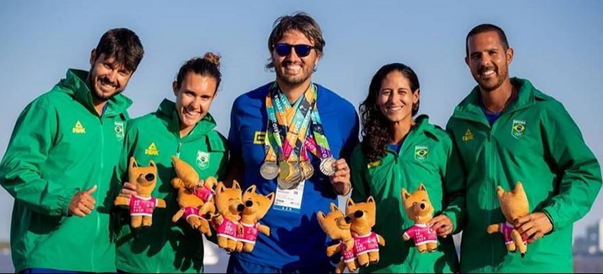 Brasil campeão dos Jogos Sul-Americanos de Praia, em Rosário, na Argentina