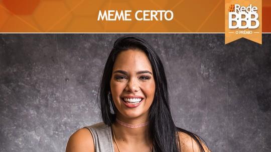 Prêmio #RedeBBB de Meme Certo vai para Mayara com a tour do 7º voto