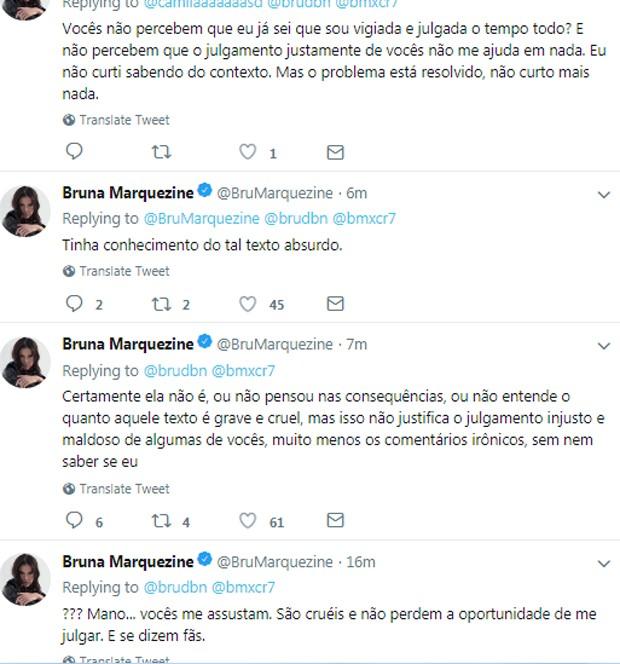 Publicações de Bruna Marquezine (Foto: Reprodução/Twitter)