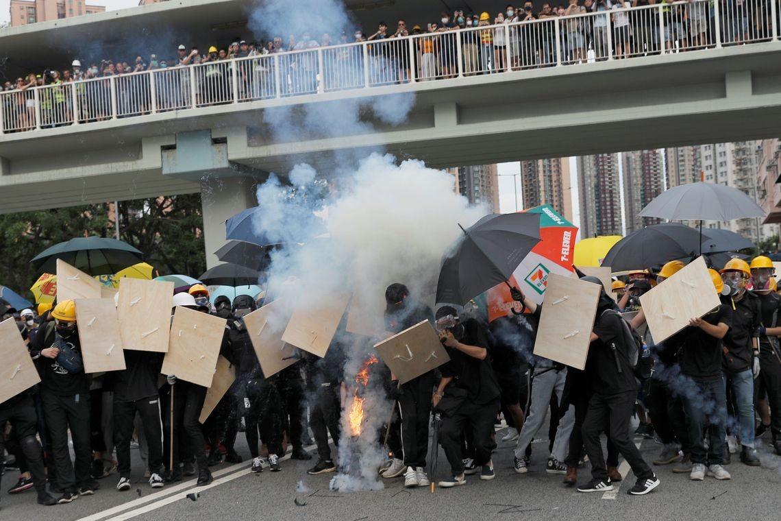 Protestos em Hong Kong (Foto: REUTERS/Tyrone Siu/Direitos Reservados)