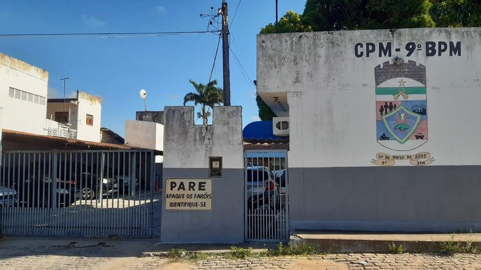 Policial com suspeita de Covid-19 trabalha no 9º Batalhão da Polícia Militar do Rio Grande do Norte — Foto: Sérgio Henrique Santos/Inter TV Cabugi