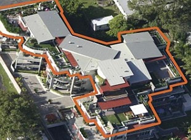 Vista de cima da cobertura (Foto: Gittoes - East Gosford/ Reprodução)
