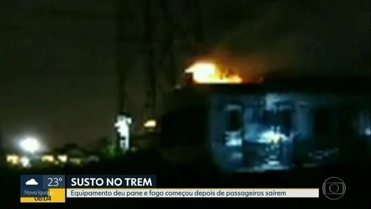 Incêndio atinge vagão de trem na Zona Norte do Rio