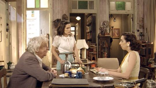 Maria e Pancrácio descobrem que Candinho é pai do bebê de Filó