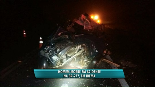 Pessoa morre em acidente na BR-277
