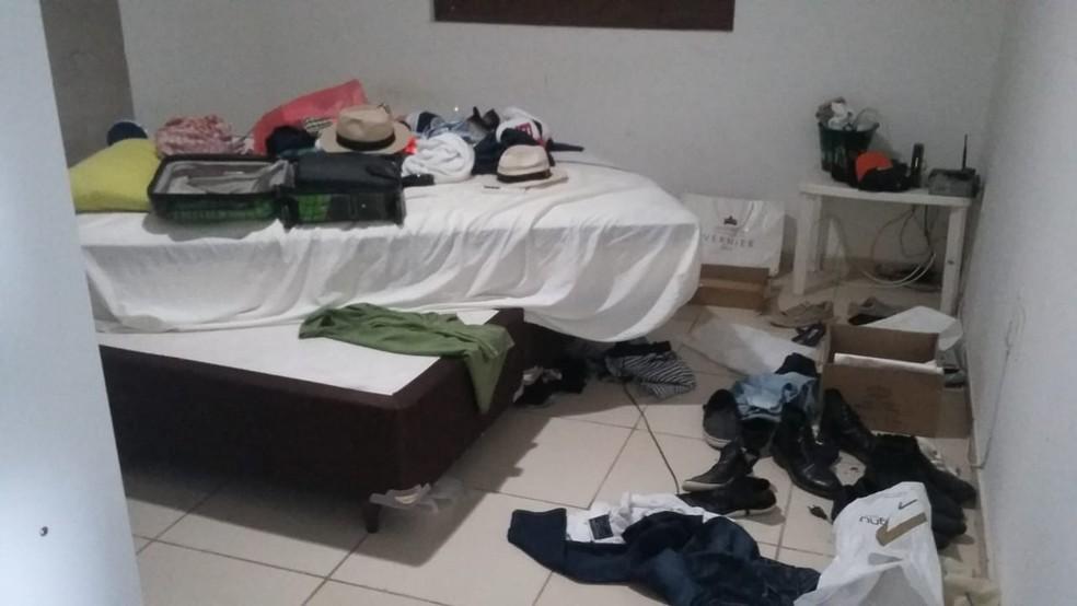 Casa de cantor foi alvo de arrastão na Grande Natal — Foto: Sérgio Henrique Santos/Inter TV Cabugi