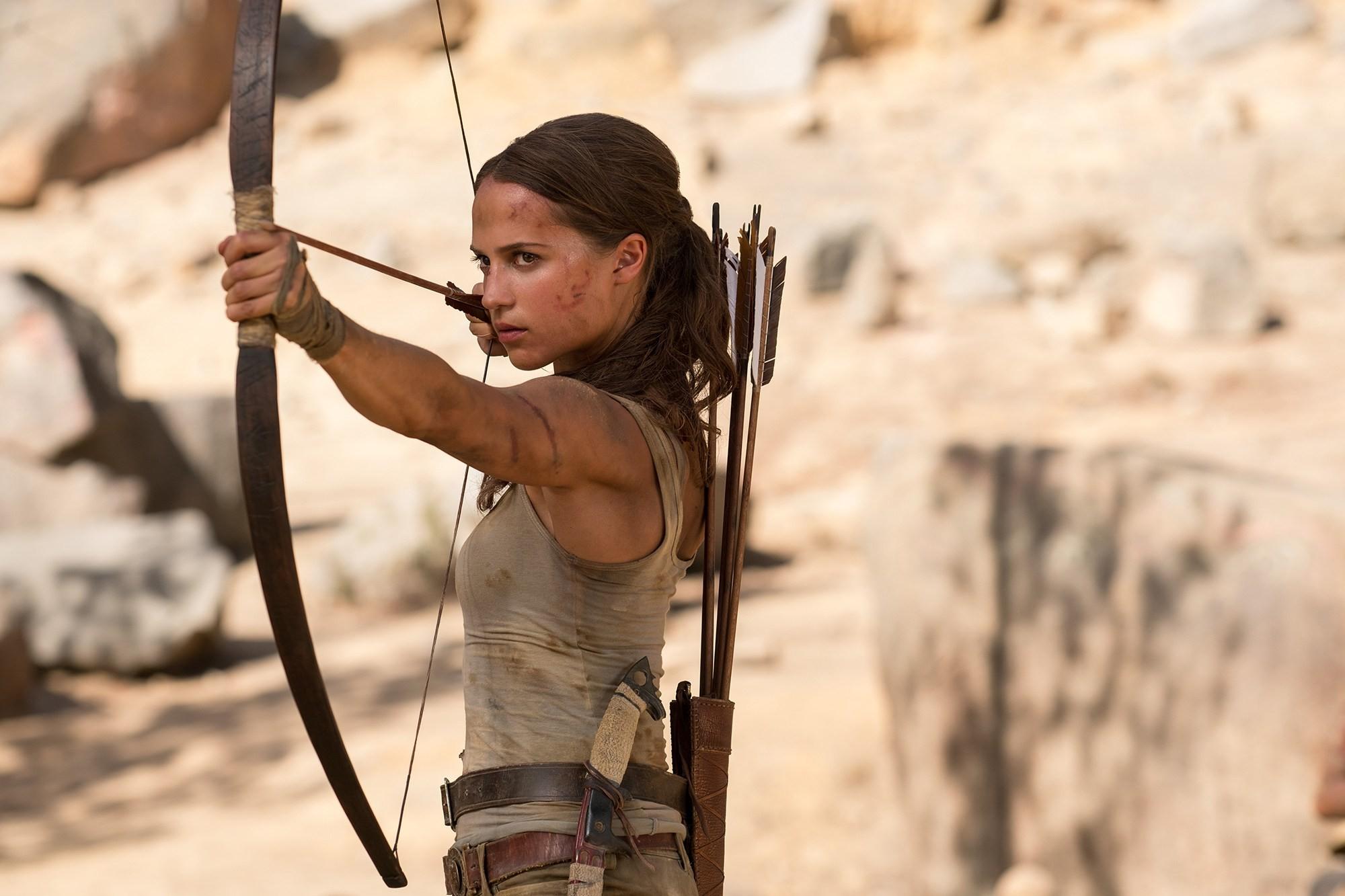 """Alicia Vikander em ação no novo """"Tomb Raider"""" (Foto: Divulgação)"""