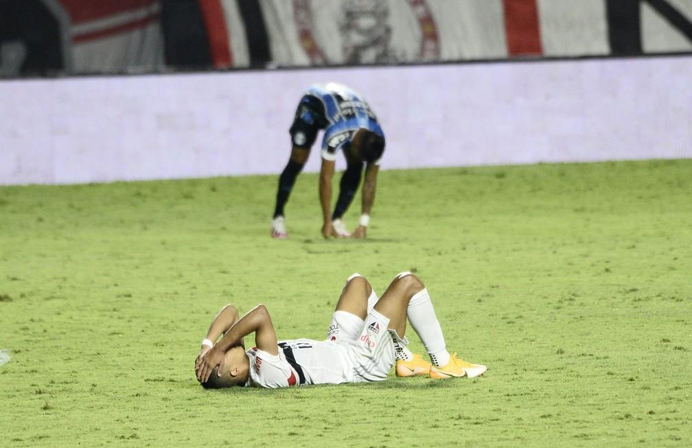 São Paulo acabou eliminado da Copa do Brasil pelo Grêmio na edição de 2020 — Foto: Marcos Ribolli
