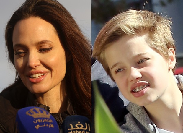 Angelina Jolie e Shiloh Jolie-Pitt (Foto: Getty Images e Backgrid)