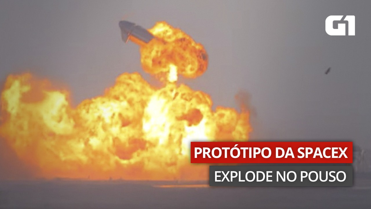 VÍDEO: Mais um protótipo de foguete da SpaceX explode após o pouso