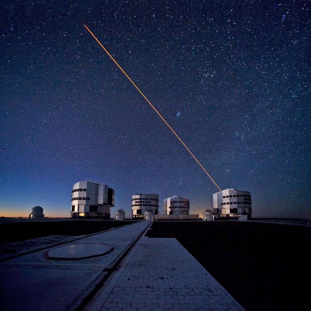 Conjunto de telescópios VLT do Observatório Europeu do Sul — Foto: S. Brunier/ESO
