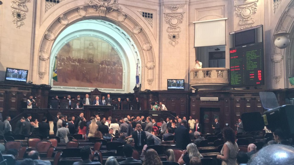 Alerj elegeu André Ceciliano (PT) como presidente da casa — Foto: Patrícia Teixeira/G1